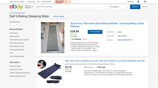 eBay Self Inflating Mattress