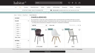 Habitat Dining Chairs & Benches