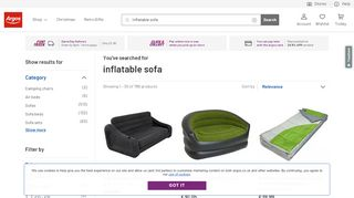 Argos Inflatable Sofas