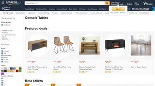 Amazon Console Tables