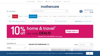 Mother Care Travel Cot Mattress