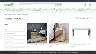 Dunelm Mirrored Collection