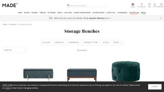 Made Storage Benches